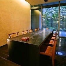 *竹林を望める完全個室*(テーブル)