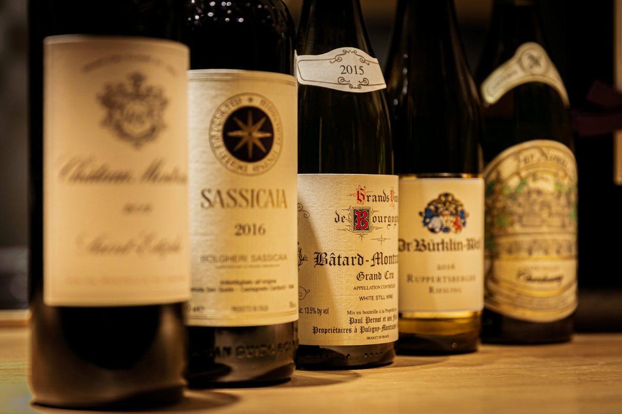 ソムリエの料理長が厳選したワイン