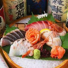 近海で獲れた旬の鮮魚が味わえる
