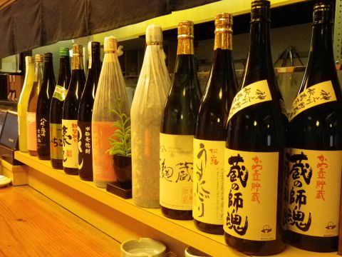 ◆厳選した焼酎と地酒