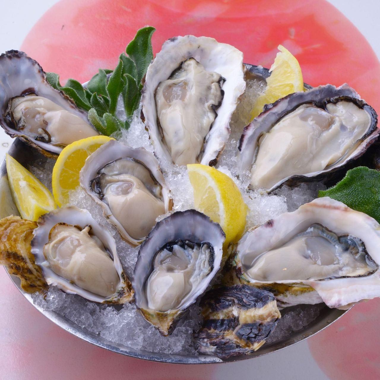 旬な生牡蠣を盛り合わせで!
