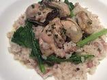 牡蠣とお野菜のリゾット〜五穀米入り〜