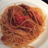 旭ガニのトマトクリームソーススパゲッティ
