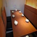 【完全個室のテーブル席】6名様向け、4名様向け