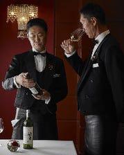 徹底管理されたワインの品揃えは見事