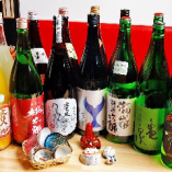 常時30種類以上の高知の地酒