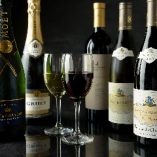 フランス産をはじめ各国のワインやシャンパーニュを味わい下さい