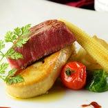 牛フィレ肉とフォアグラのロッシーニ風