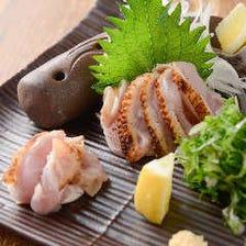鮮度抜群!京都の地鶏を「炙り」で