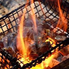 種鶏地鶏の炭火炙り