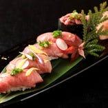 飛騨牛 寿司 五種盛り