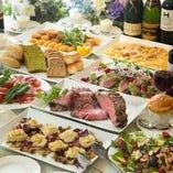 【豪華コース満載】 厳選食材を使用した料理がズラリと並びます