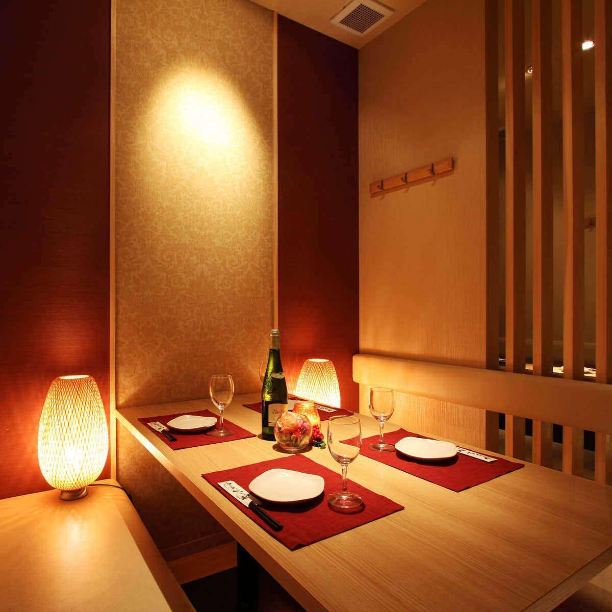 新宿での宴会に最適な全席個室空間
