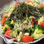 農家直送!新鮮野菜の和風サラダ