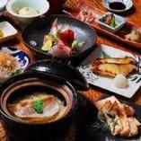 [個々皿対応コース] 真鯛の土鍋めしや旬の逸品を堪能!