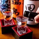どんなお料理にも合う日本酒、焼酎など幅広くご用意しております