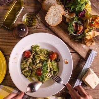 イタリア産の小麦粉使用。もちもちした食感がたまらない生パスタ