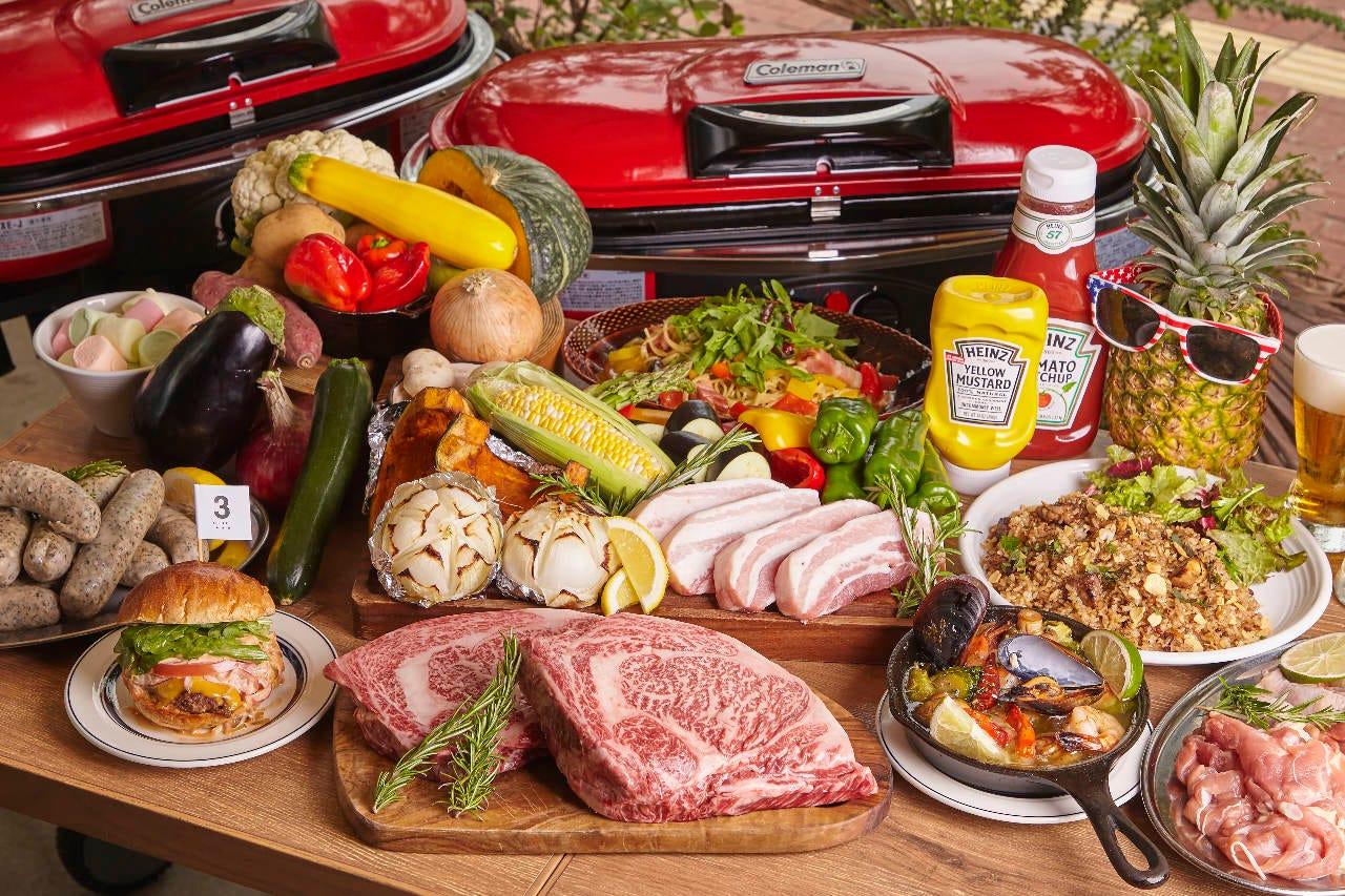 大人気の熟成肉 BBQ !!屋根付き&暖房完備の解放的なテラス席