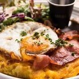 mac & cheese pancake lunch - マックアンドチーズパンケーキランチ