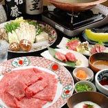 【90分飲み放題付】神戸牛肉づくし と 神戸牛しゃぶしゃぶ 又は 神戸牛すきやきコース