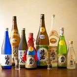 地元神戸の地酒を多数取り揃えております。