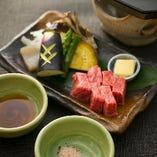 神戸牛陶板焼き