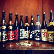 豊富な焼酎・日本酒を置いています♪