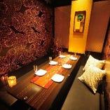 ◆和情緒個室◆ 全席和モダンの個室多数♪デートや女子会に◎