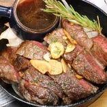 がっつり肉を愉しむも◎アメリカンペッパー&ガーリックステーキ