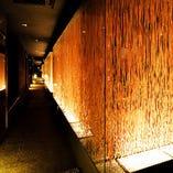 照明や設備にこだわり、お客様に落ち着きある空間をご提供。