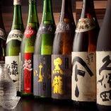 地酒も種類豊富に取り揃えています。