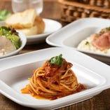【お昼】 日替わりメニューも選べるパスタ・リゾットランチ