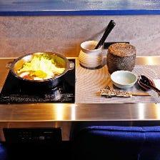 贅沢なひと時を演出。旬食材とお鍋、炊き立てご飯を味わう懐石「米寿」