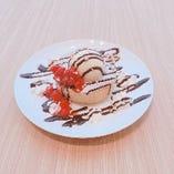 厚焼きパンケーキ ~ホイップ&バニラアイス~