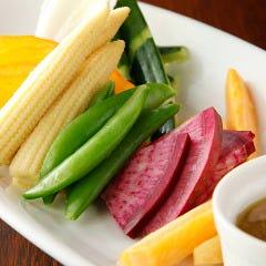 【こだわり素材】有機野菜のバーニャカウダ