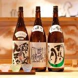 厳選されたこだわりの日本酒。リクエストはスタッフまで!