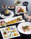 【女子会】コース 3500円税別(先付、前菜、造り、焼物、湯物、揚物、食事、デザート)
