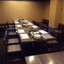 テーブル個室6~24名様まで完備!