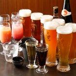 クラフトビール6種を含む約30種が飲み放題
