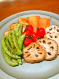 本日の鉄板焼野菜5種