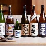 日本酒をはじめ、ワインや焼酎など取り揃えております。