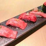 和牛肉寿司 5貫盛り