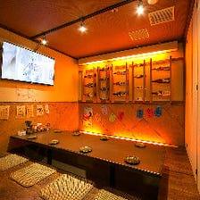 多彩な完全個室席を完備!