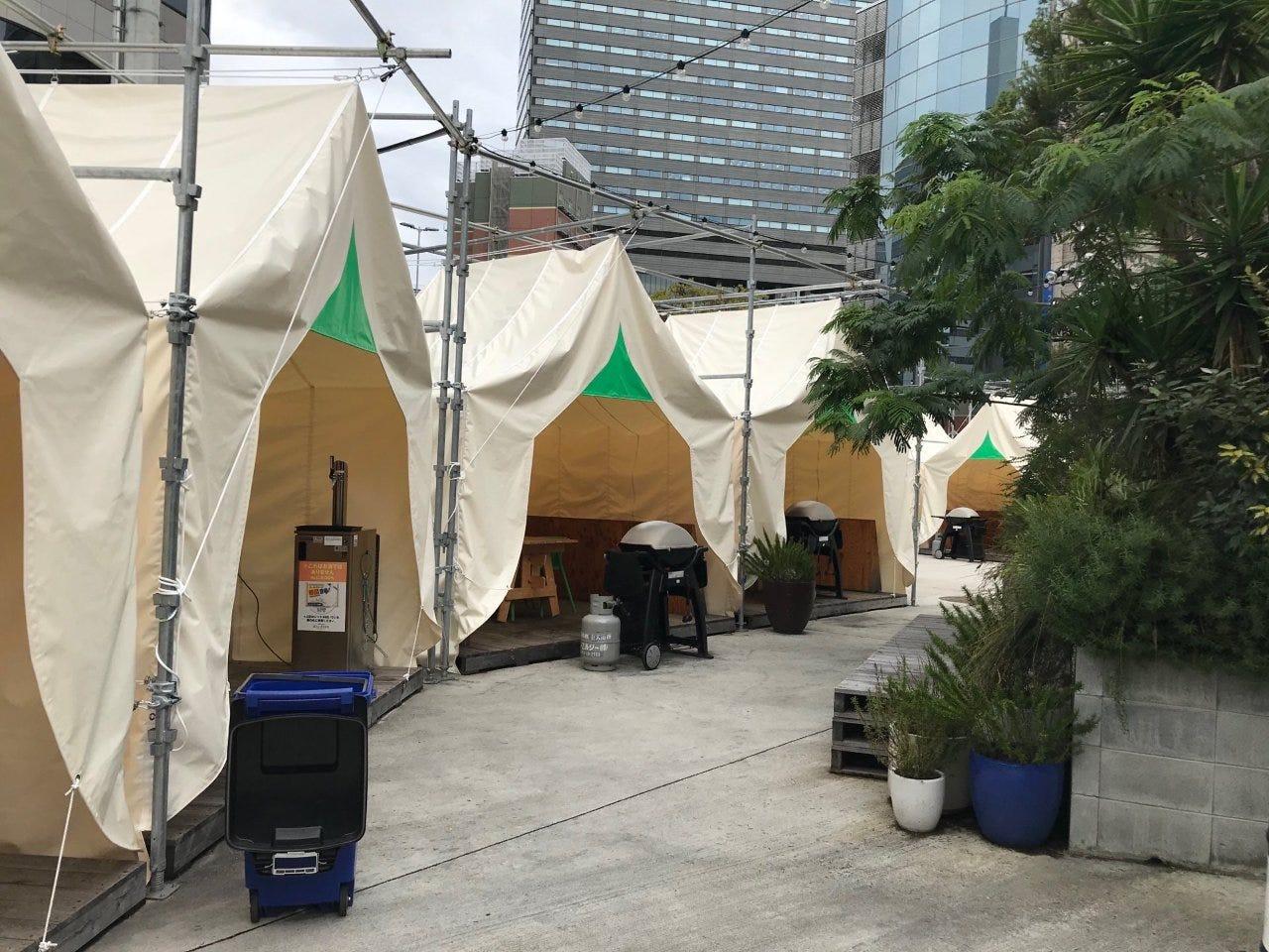 テントがリニューアル!開放感溢れる空間で手ぶらBBQ!