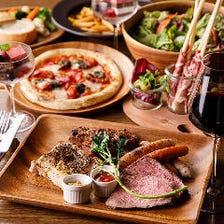 「歓送迎会コース」肉盛り4種や選べるピザにペンネ、豪華ラインナップ全12品2時間飲み放題付お1人様¥6000