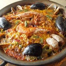 バレンシア風パエリャ(魚介類)