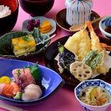 お造り+天ぷら定食