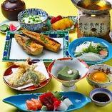 筍山椒焼きに白魚1人鍋をご堪能いただく『春の四季御膳』飲み放題付5,000円(税サ別)