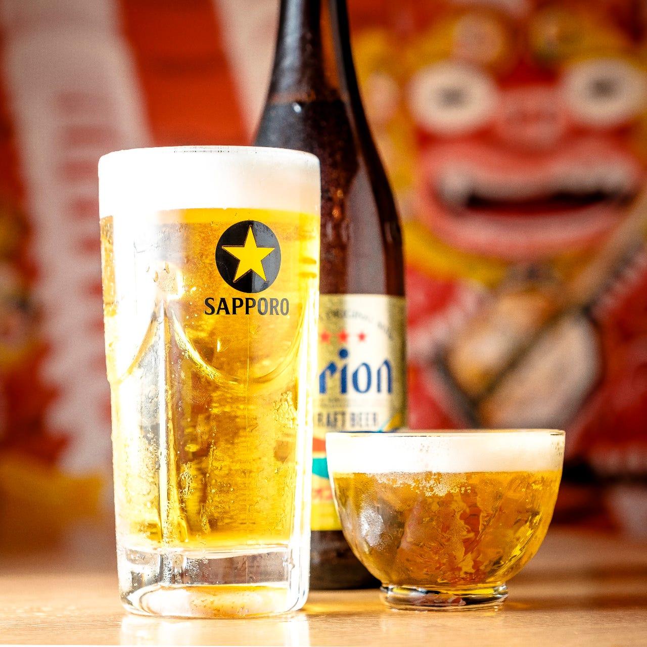 生ビールは+300円でお付けできます!