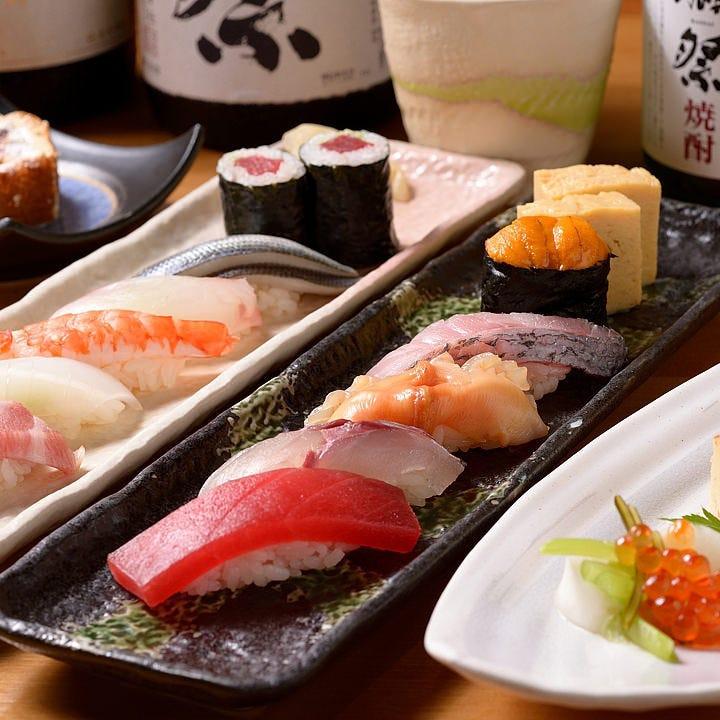贅沢に!寿司が主役のお食事会